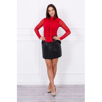 Body blouse tulle red