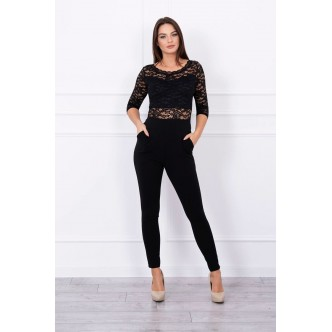Overalls with lace top black