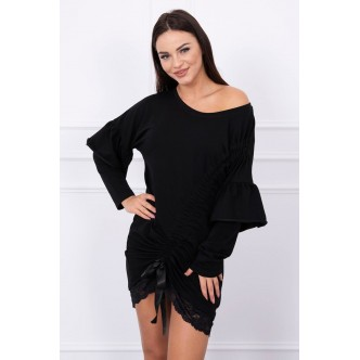 Tunic with lace black