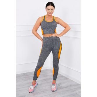 Fitness set orange neon