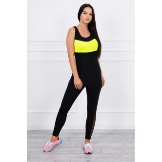 Fitness suit yellow neon