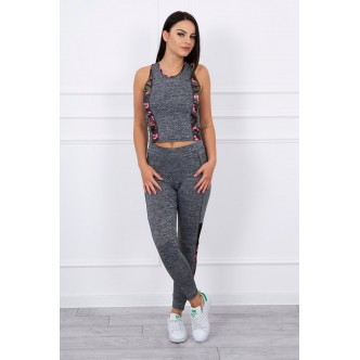 Sports set with mesh moro pink