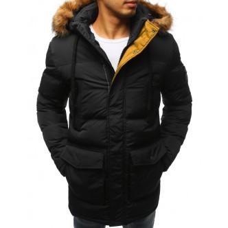 Pánska zimná bunda prešívaná čierna (tx2312)