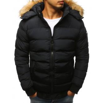 Pánska zimná bunda prešívaná čierna (tx2315)