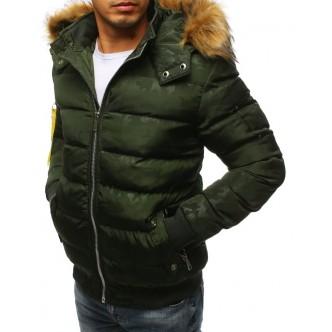 Pánska zimná bunda prešívaná zelená (tx2323)