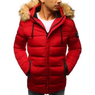 Pánska prešívaná zimná červená bunda (tx2325)