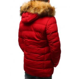 Pánska prešívaná zimná červená bunda (tx2325) cf71e20674b