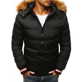 Pánska zimná bunda prešívaná čierna (tx2327)