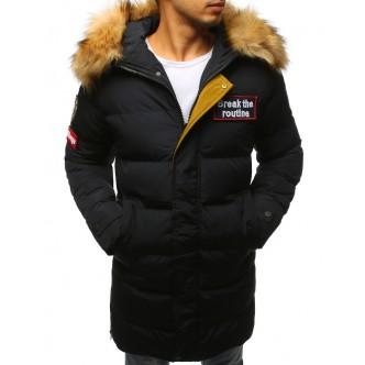 Pánska zimná bunda prešívaná čierna (tx2329)