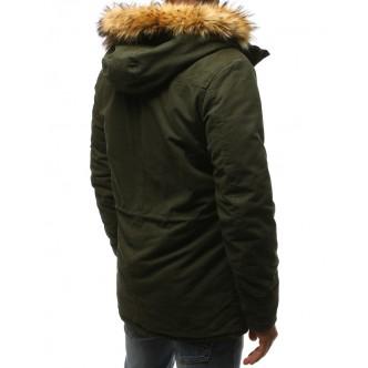Pánska zimná park bunda zelená (tx2371)