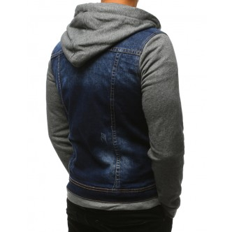 Pánska džínsová bunda, modrá (tx2384)