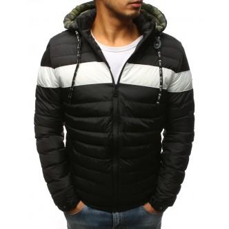 Pánska zimná bunda prešívaná čierna (tx2393)