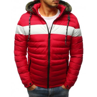 Pánska zimná bunda prešívaná červenou (tx2395)