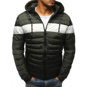 Pánska zimná bunda prešívaná zelená (tx2397)