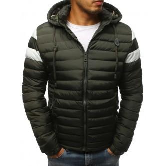 Pánska zimná bunda prešívaná zelená (tx2399)