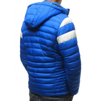 Pánska zimná bunda prešívaná modrá (tx2402)