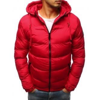 Pánska prešívaná zimná červená bunda (tx2406)