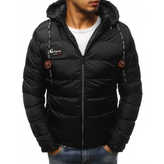 Pánska zimná bunda prešívaná čierna (tx2418)