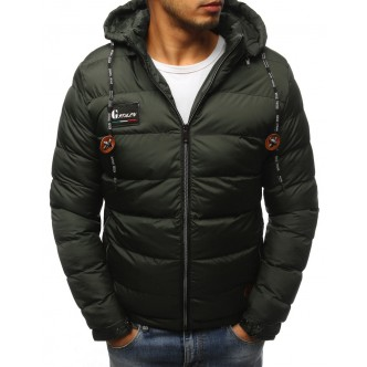 Pánska zimná bunda prešívaná zelená (tx2422)