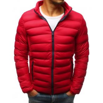Pánska prešívaná zimná červená bunda (tx2424)