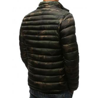 Pánska zimná prešívaná bunda woodland camo (tx2428)