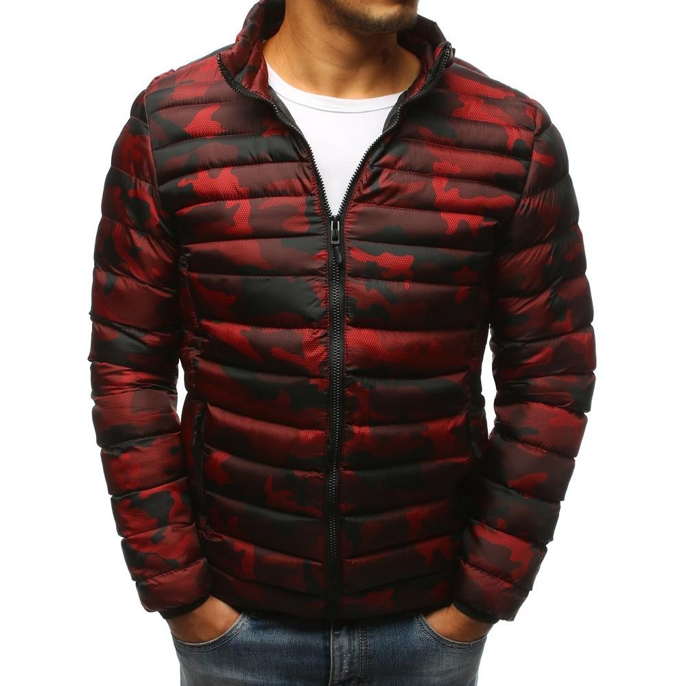 Pánska zimná prešívaná camo červená bunda (tx2430) f9fd7c2e30c