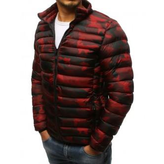 Pánska zimná prešívaná camo červená bunda (tx2430)