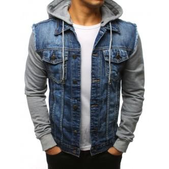 Pánska džínsová bunda, modrá (tx2435)