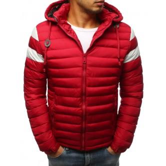 Pánska prešívaná zimná červená bunda (tx2400)