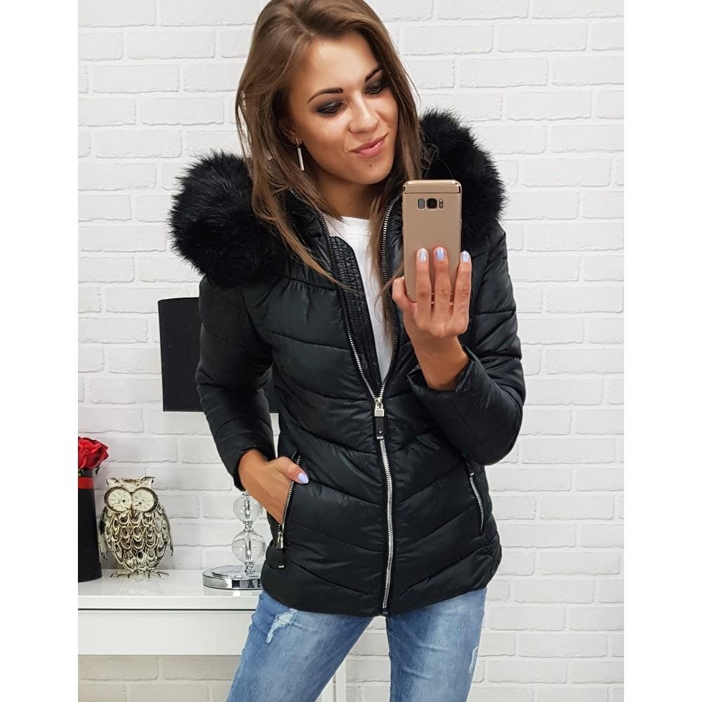 Dámska zimná bunda ABELLA prešívaná kapucňou čierna (ty0299) 16dd0ded145
