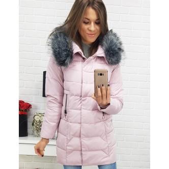 Dámska bunda ROMSEY zimná prešívaná s kapucňou ružová (ty0407)