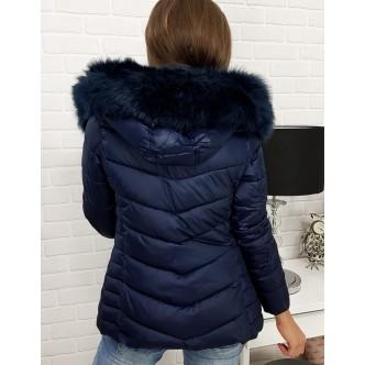 Dámska zimná bunda ABELLA prešívaná tmavo modrým (ty0300)