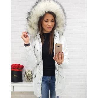 Jacket park STONE WHITE dámska zimná biela (ty0441)