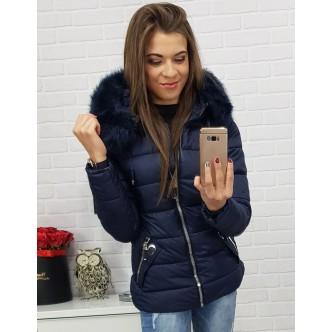 Dámska bunda VIP zimná prešívaná tmavo modrá (ty0417)