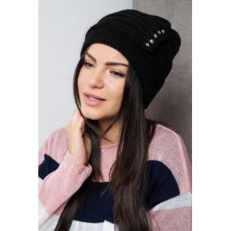 Dámska čiapka čierna