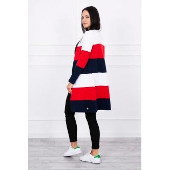 Coatee trojfarebná biela + červená + tmavo modrá