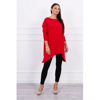 Blouse oversize red