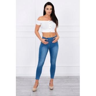 fabe0e1e3bf3 Dámske džínsy modré