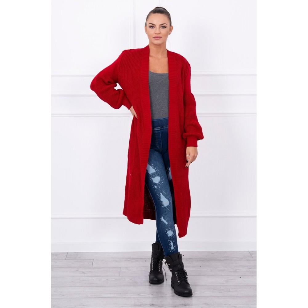 8e634d2c6025 ... Svetre · Dámsky sveter červený. Breadcrumb image. Ribbed long sweater  red