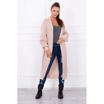 Ribbed long sweater powdered pink