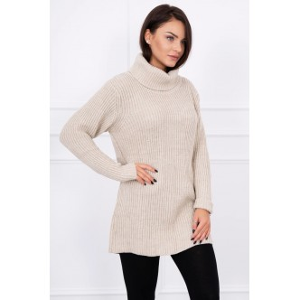 Sweater with golf beige