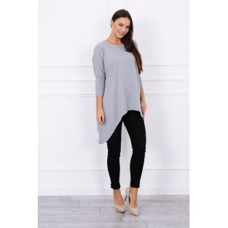 Blouse oversize gray