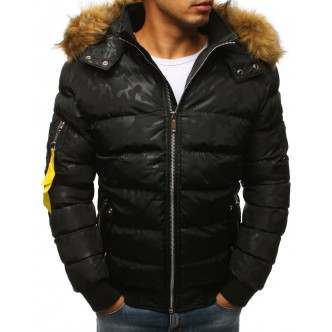 Kurtka męska zimowa pikowana czarna (tx2321)