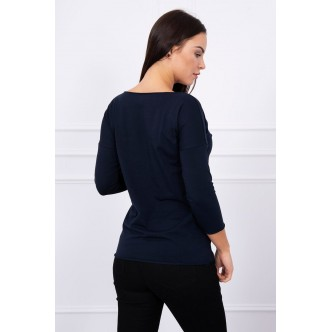 Blouse Casual navy blue