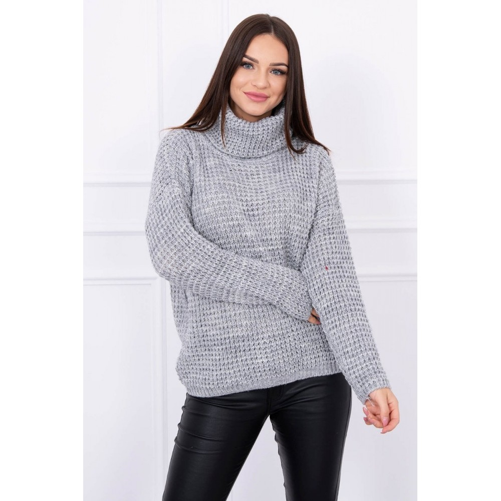 Sweater with turtleneck gray