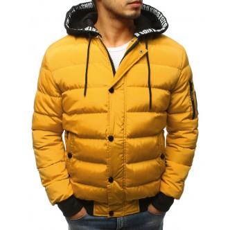 Kurtka męska zimowa pikowana żółta (tx2514)