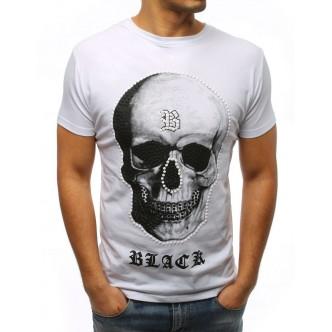 T-shirt męski z nadrukiem biały (rx3008)