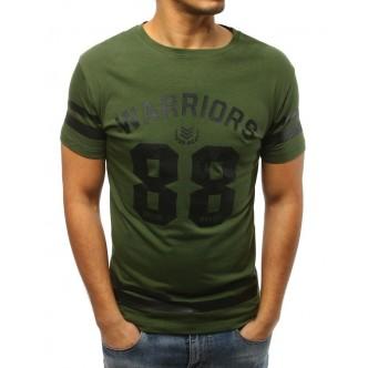 T-shirt męski z nadrukiem zielony (rx3003)