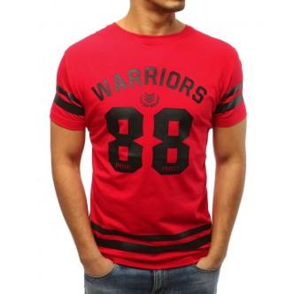 T-shirt męski z nadrukiem czerwony (rx3004)
