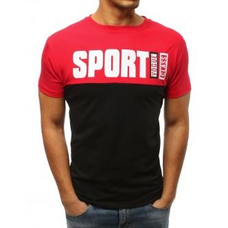 T-shirt męski z nadrukiem czerwony (rx3036)